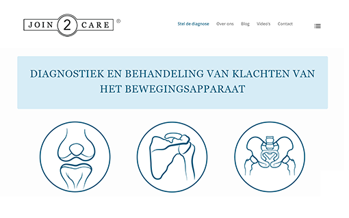 Join2Care homepage